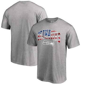 Seattle Seahawks Pro Line By Fanatics Branded Banner Wave T-Shirt Heathered Gray