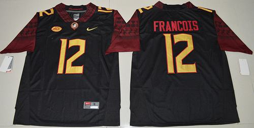 Seminoles #12 Deondre Francois Black Limited Stitched NCAA Jersey