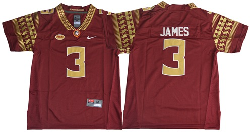 Seminoles #3 Derwin James Red Limited Stitched Youth NCAA Jersey