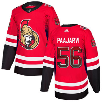 Senators 56 Magnus Paajarvi Red Drift Fashion Adidas Jersey