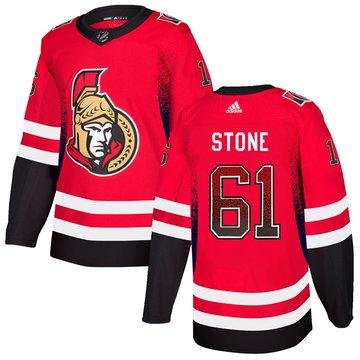 Senators 61 Mark Stone Red Drift Fashion Adidas Jersey