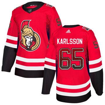 Senators 65 Erik Karlsson Red Drift Fashion Adidas Jersey