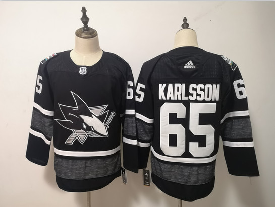 Sharks 65 Erik Karlsson Black 2019 NHL All-Star Game Adidas Jersey