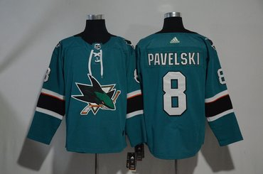 Sharks 8 Joe Pavelski Teal Adidas Jersey