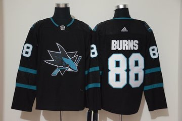 Sharks 88 Brent Burns Black Adidas Jersey