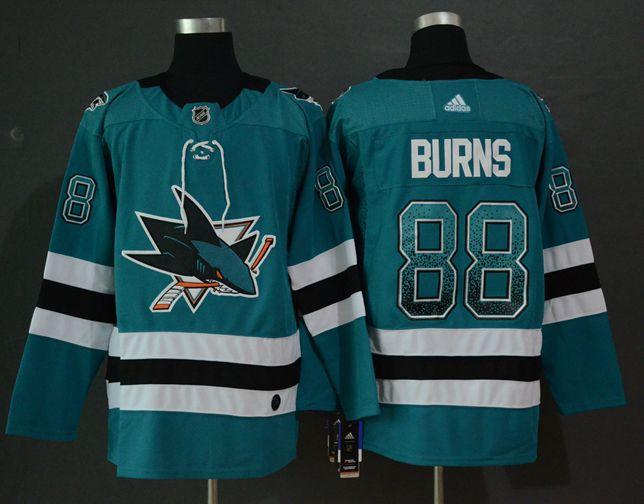 Sharks 88 Brent Burns Teal Drift Fashion Adidas Jersey