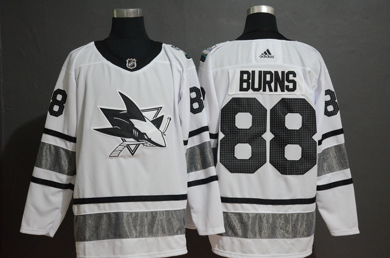 Sharks 88 Brent Burns White 2019 NHL All-Star Game Adidas Jersey