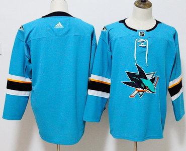 Sharks Blank Teal Adidas Jersey