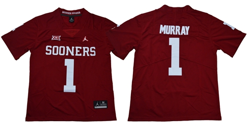 Sooners #1 Kyler Murray Red Jordan Brand Limited Stitched NCAA Jersey