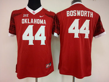Sooners #44 Brian Bosworth Red Women's Stitched NCAA Jersey