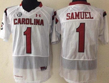 South Carolina Gamecocks 1 Gamecock Samuel White College Football Jersey