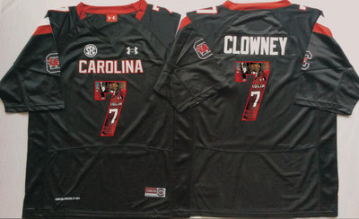 South Carolina Gamecocks 7 Jadeveon Clowney Black Portrait Number College Jersey