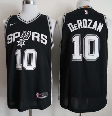 Spurs 10 DeMar DeRozan Black 2018-19 Nike Authentic Jersey