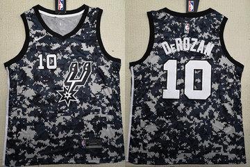 Spurs 10 DeMar DeRozan Camo 2018-19 Nike Swingman Jersey