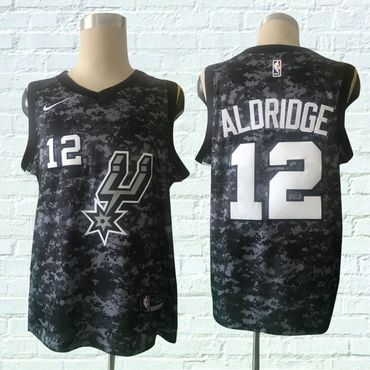 Spurs 12 LaMarcus Aldridge Black City Edition Nike Swingman Jersey