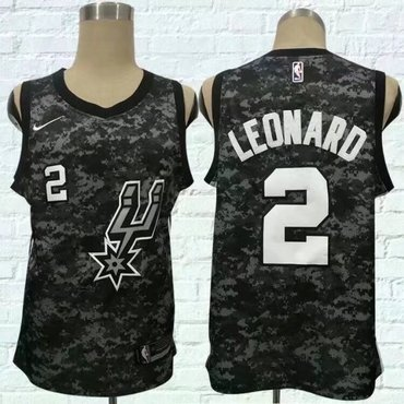 Spurs 2 Kawhi Leonard Black City Edition Nike Swingman Jersey