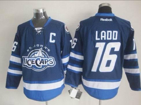 St. John's IceCaps 16 Ladd Blue C Patch Reebok Jersey
