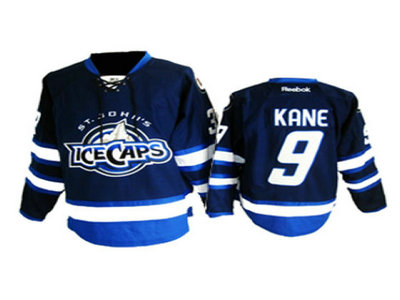 St. Johns IceCaps 9 Kane blue jersey
