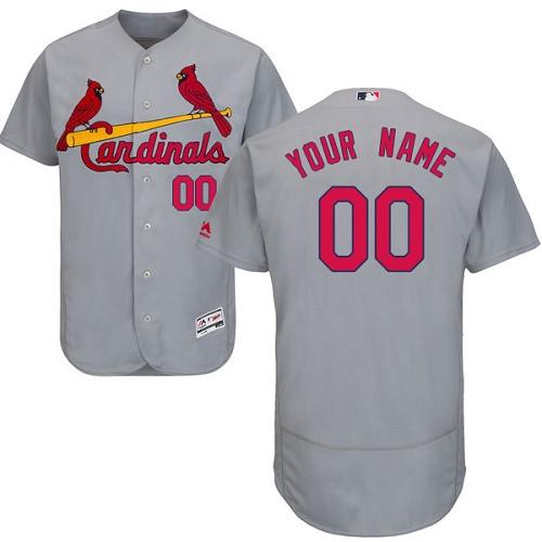 St. Louis Cardinals Gray Men's Customized Flexbase Jersey