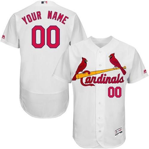 St. Louis Cardinals White Men's Customized Flexbase Jersey