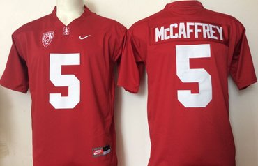 Stanford Cardinal 5 Christian McCaffrey Red College Football Jersey