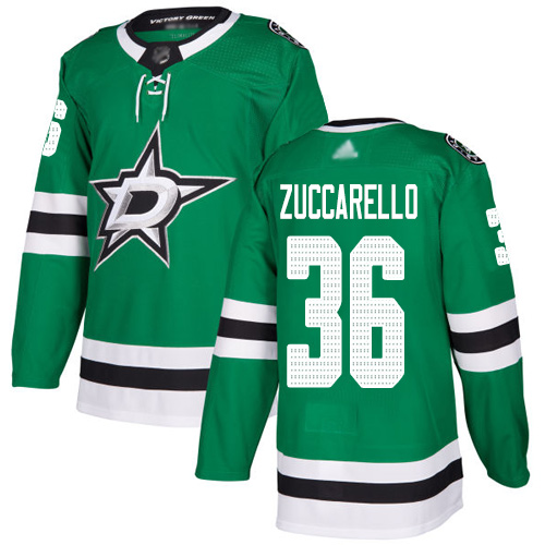 Stars #36 Mats Zuccarello Green Home Authentic Stitched Hockey Jersey
