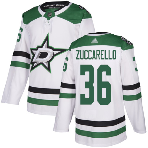 Stars #36 Mats Zuccarello White Road Authentic Youth Stitched Hockey Jersey