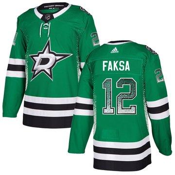 Stars 12 Radek Faksa Green Drift Fashion Adidas Jersey