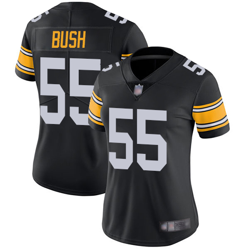 Steelers #55 Devin Bush Black Alternate Women's Stitched Football Vapor Untouchable Limited Jersey