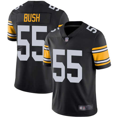 Steelers #55 Devin Bush Black Alternate Youth Stitched Football Vapor Untouchable Limited Jersey