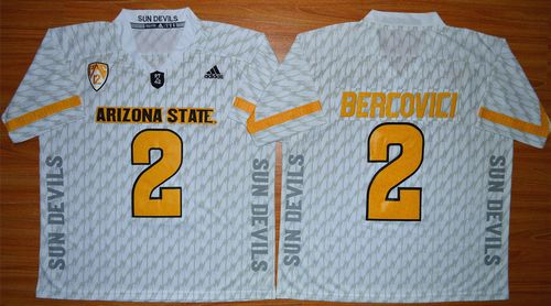 Sun Devils #2 Mike Bercovici White New Stitched NCAA Jersey