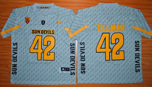 Sun Devils #42 Pat Tillman New Grey Stitched NCAA Jersey