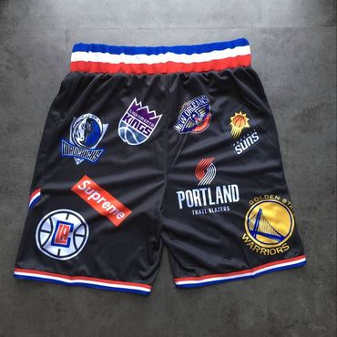 Supreme X Nike X NBA Logos Stitched Basketball Shorts