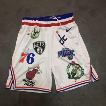 Supreme X Nike X NBA Logos Stitched Basketball Shorts