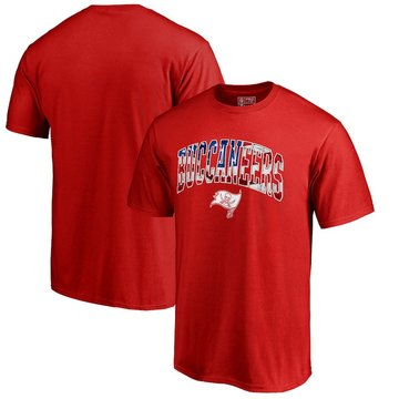 Tampa Bay Buccaneers NFL Pro Line By Fanatics Branded Banner Wave T-Shirt Red