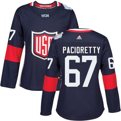 Team USA #67 Max Pacioretty Navy Blue 2016 World Cup Women's Stitched NHL Jersey