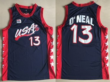 Team USA Basketball 13 Shaquille O'Neal Navy Jersey