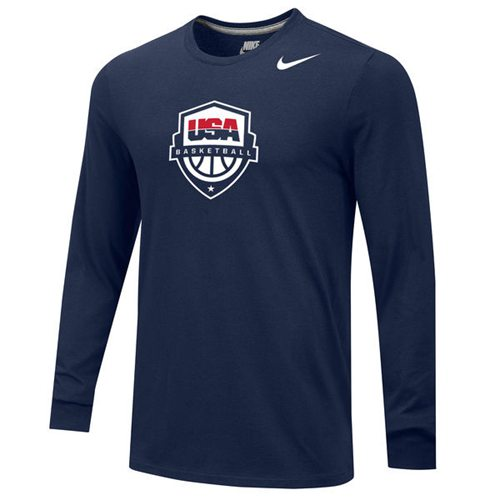 Team USA Basketball Nike Core Long Sleeves T-Shirt Navy