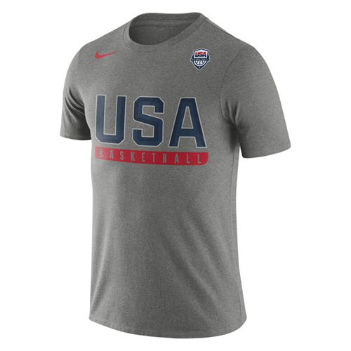 Team USA Basketball Nike Practice Dri-FIT T-Shirt Gray