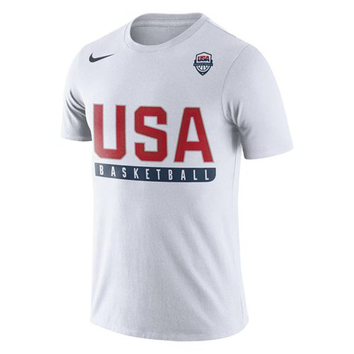 Team USA Basketball Nike Practice Dri-FIT T-Shirt White