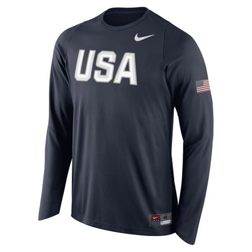 Team USA Basketball Nike Shooter Long Sleeves T-Shirt Navy