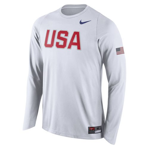 Team USA Basketball Nike Shooter Long Sleeves T-Shirt White
