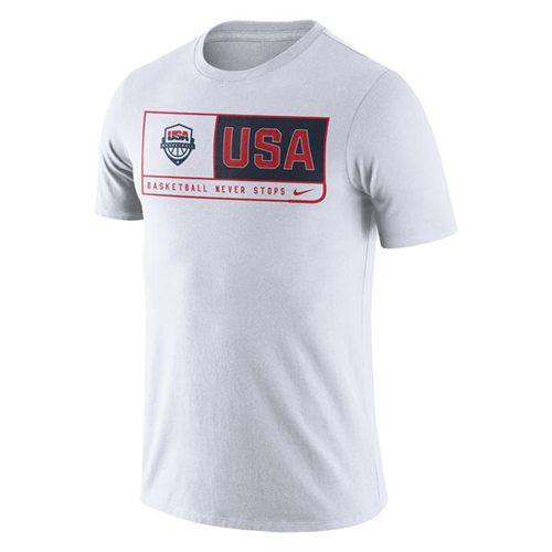 Team USA Basketball Nike Team Dri-FIT T-Shirt White