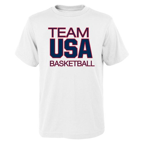 Team USA Basketball Pride for National Governing Body T-Shirt White