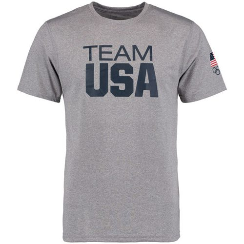 Team USA Coast to Coast Performance T-Shirt Heather Grey