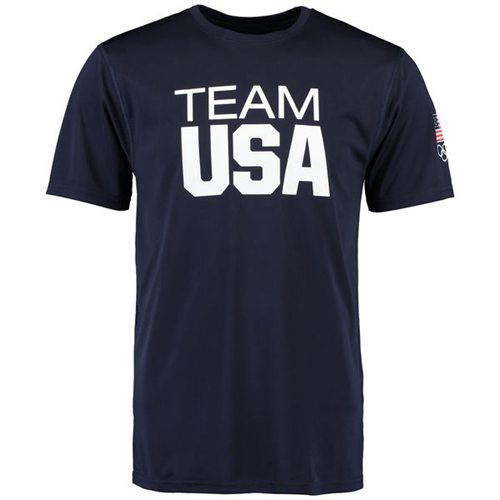 Team USA Coast to Coast Performance T-Shirt Navy