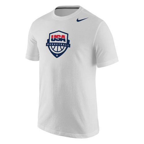 Team USA Nike Basketball Core Cotton T-Shirt White