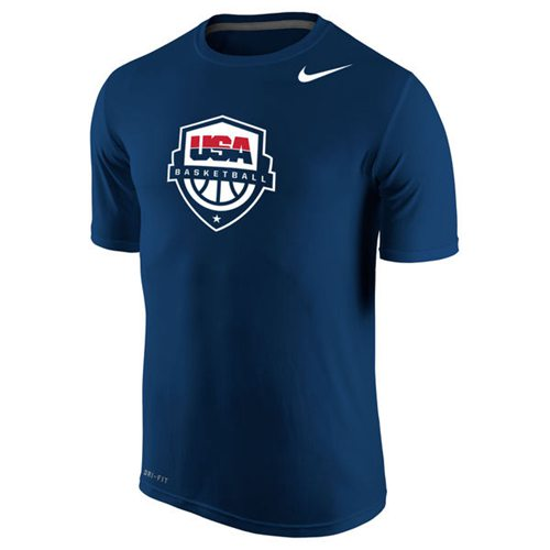 Team USA Nike Basketball Legend 2.0 Performance T-Shirt Navy