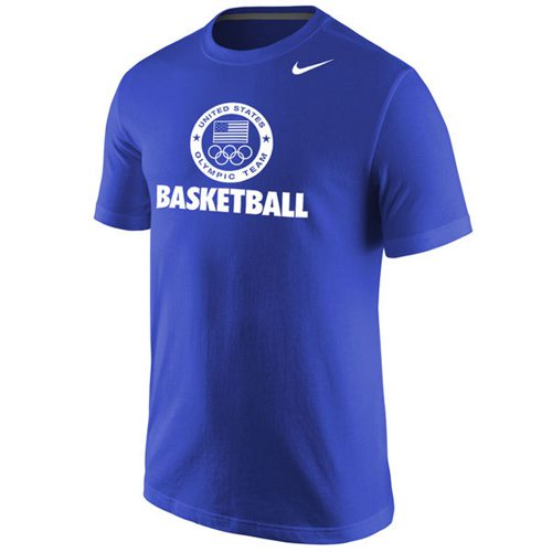 Team USA Nike Basketball Sport Core T-Shirt Royal