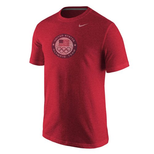 Team USA Nike Dri-Blend Logo Performance T-Shirt Red